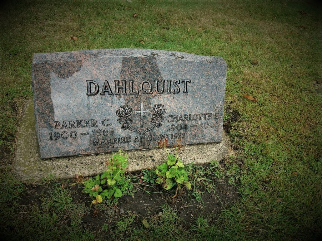 Dahlquist gravestone South Green Lake Cemetery Chisago MN