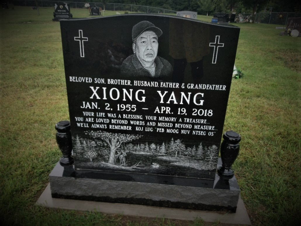 Hmong gravestone South Green Lake Cemetery Chisago MN