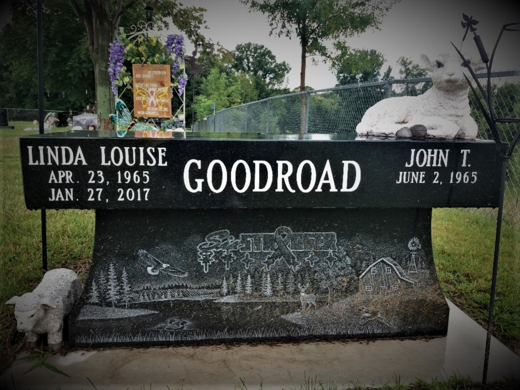 Linda Goodroad gravestone South Green Lake Cemetery Chisago MN