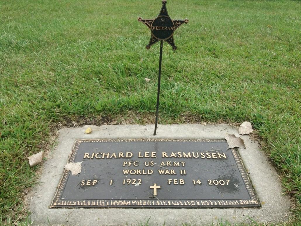 Rasmussen grave Lakeside Cemetery Balaton MN