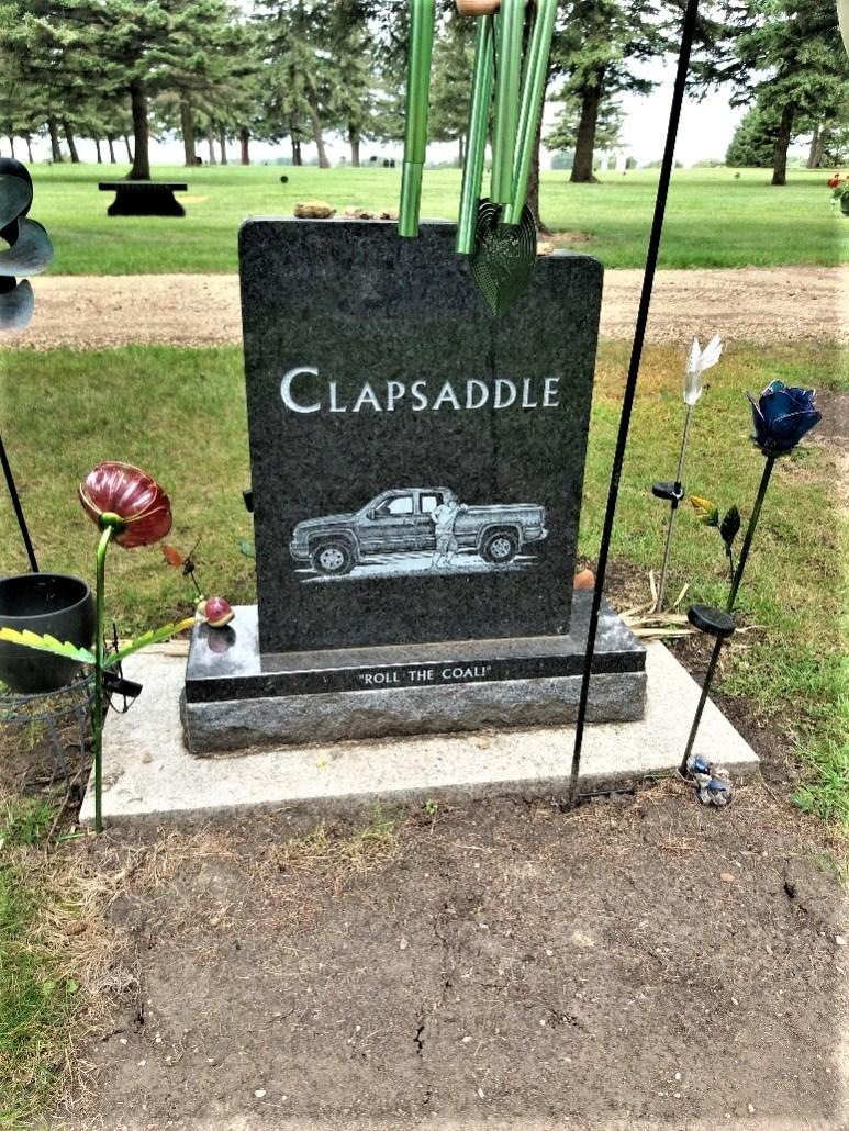 Clapsaddle grave Lakeside Cemetery Balaton MN