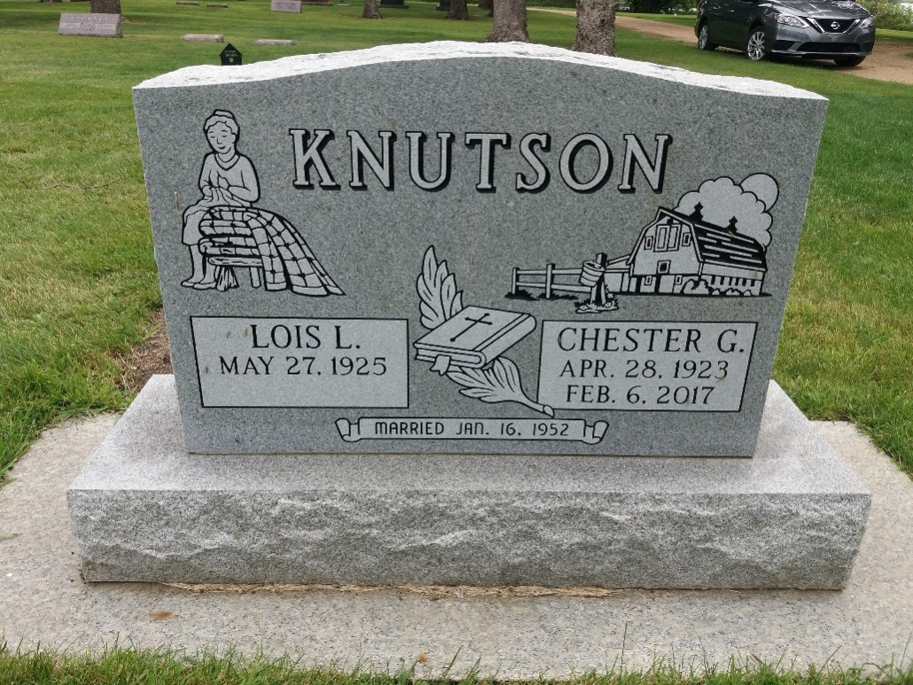 Knutson grave Lakeside Cemetery Balaton MN