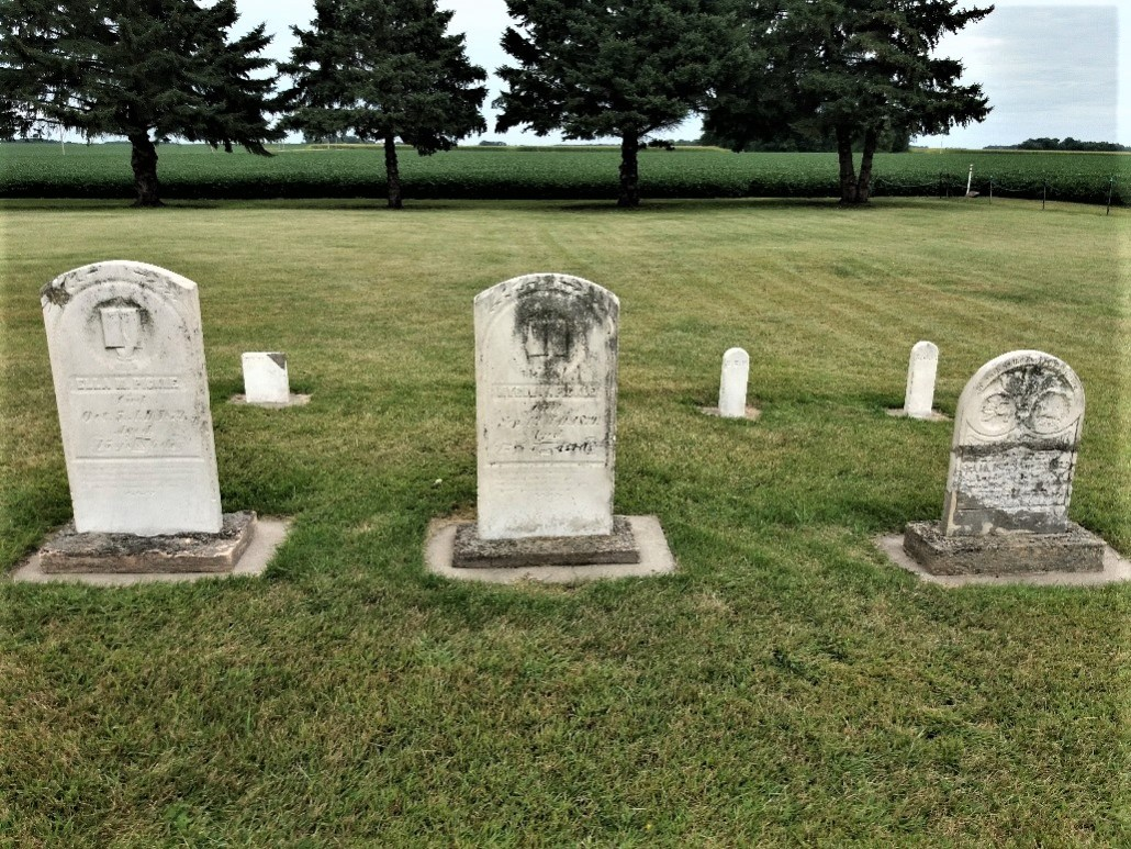 Tombstones at Golden Gate Cemetery, Sleepy Eye, MN