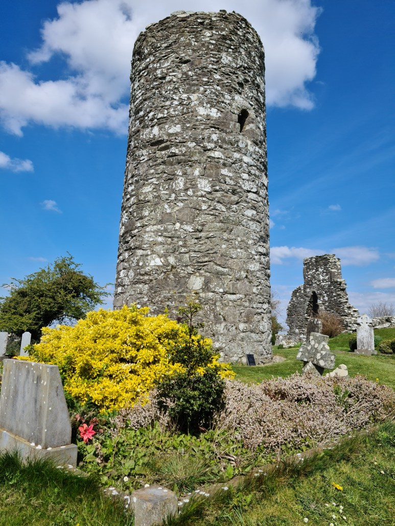 Round Tower at Oughterard Cemetery Co Kildare