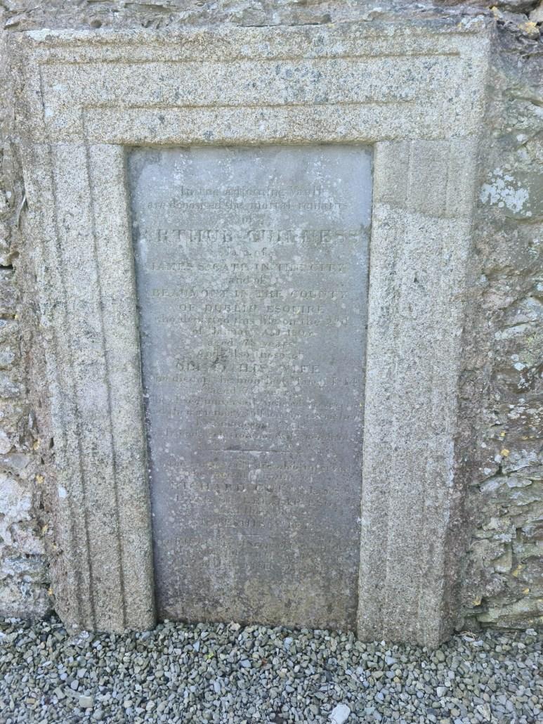 Gravestone of Arthur Guinness Oughterard Cemetery