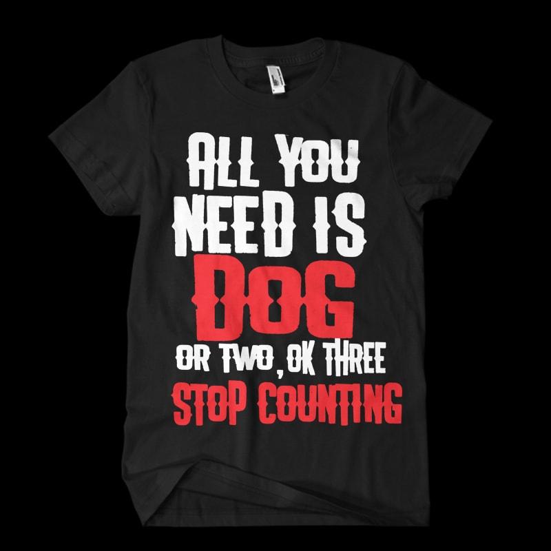 Download Dog Vector t-shirt design