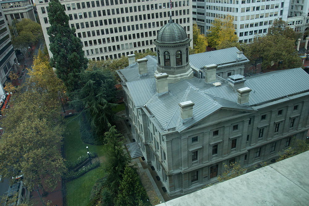 View of Courthouse The Nines Portland Oregon