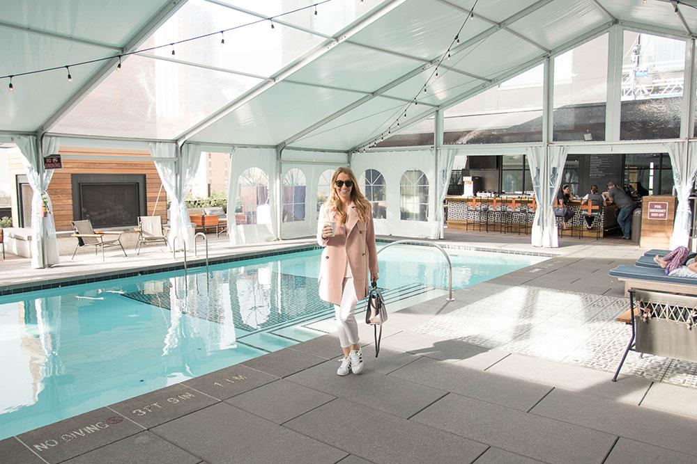 Loretta's Suite - Swimming Pool - Hotel Van Zandt - Austin Texas - Kimpton