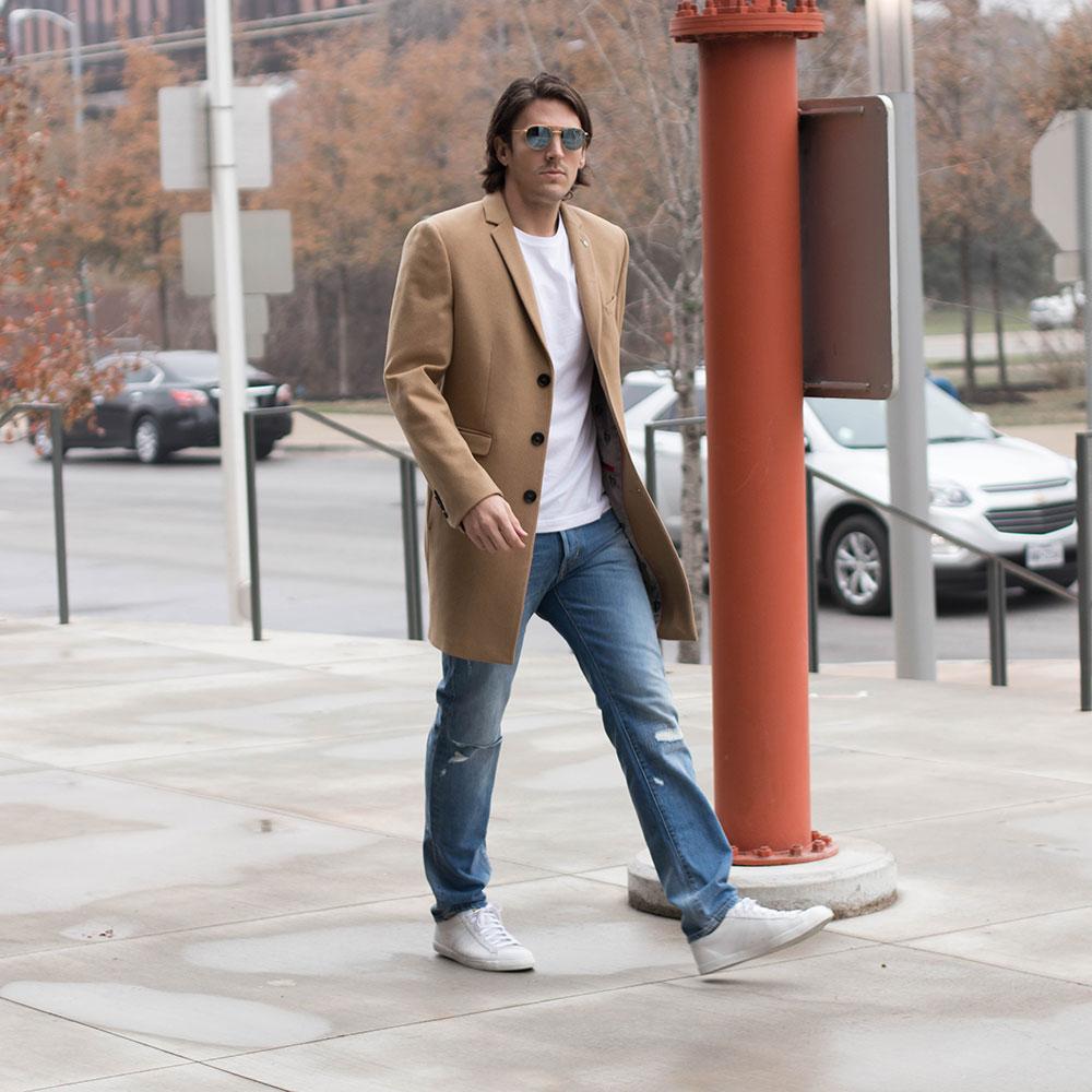 Brown Men's Winter Overcoat 2017