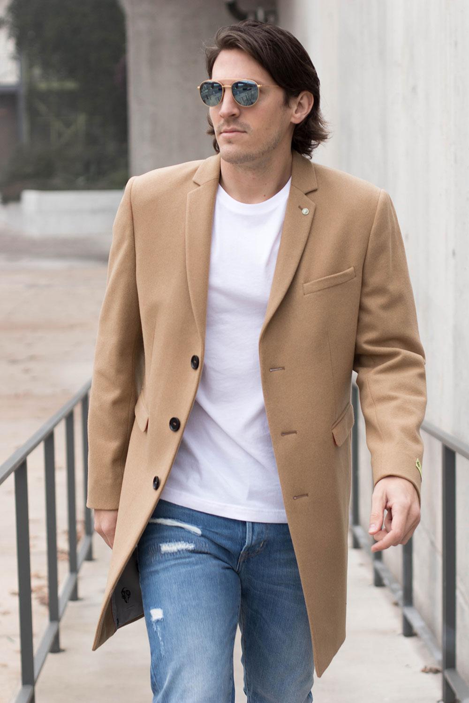 Brown Men's Winter Overcoat 2017 - 2