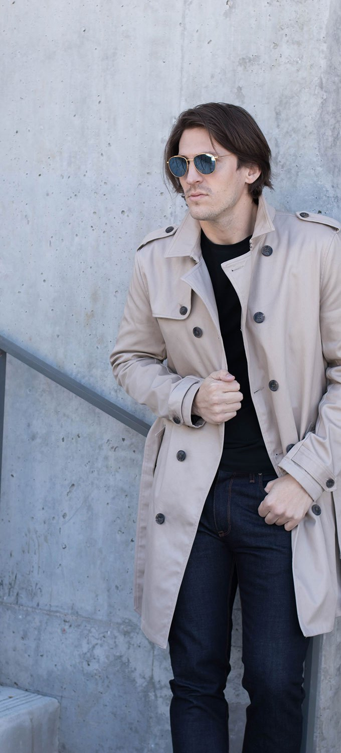Tan Men's Winter Overcoat 2017 -2