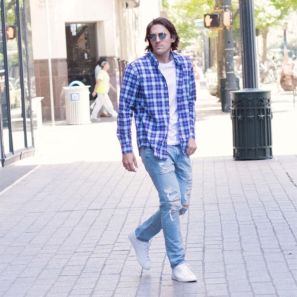 @Dylanbenjam Instagram Male Fashion Vineyard Vines Button Up Shirt