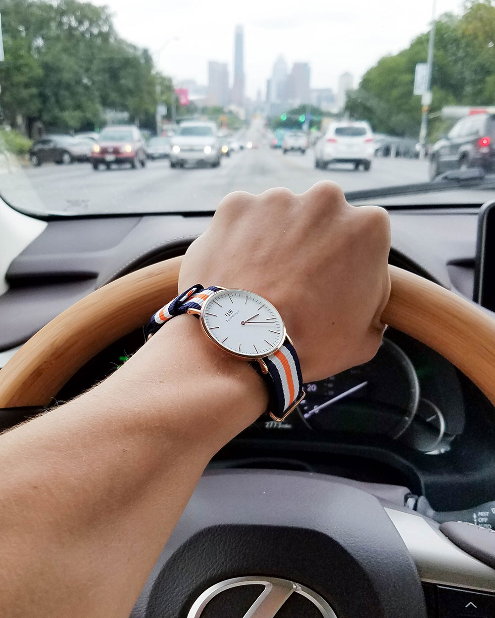 Daniel Wellington Nato Strap Watch Orange
