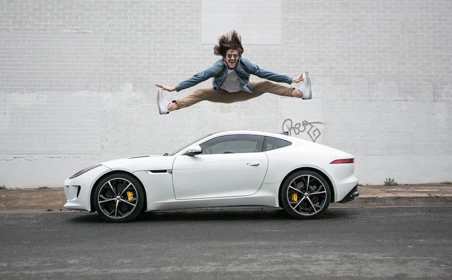 Jumping over Jaguar F-Type R