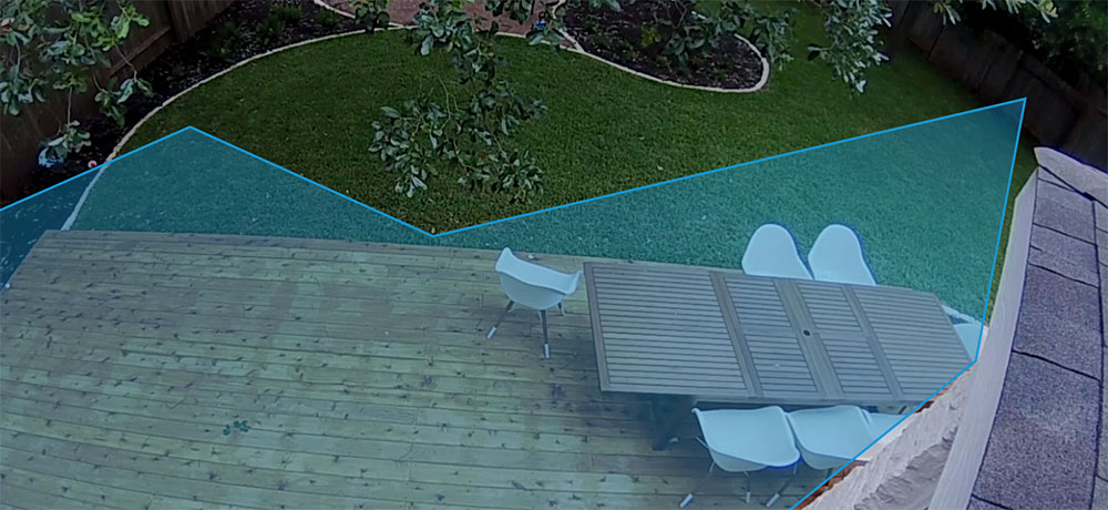 Motion Zones of Backyard View with Ring Floodlight Cam