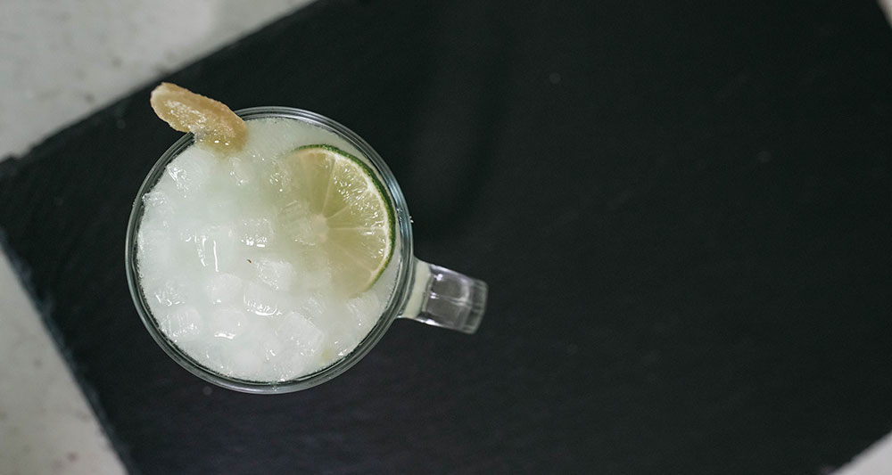 Moscow Mule made with Nugget Ice Long
