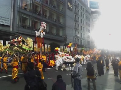 Yau Kung Moon lion dancers in Union Square