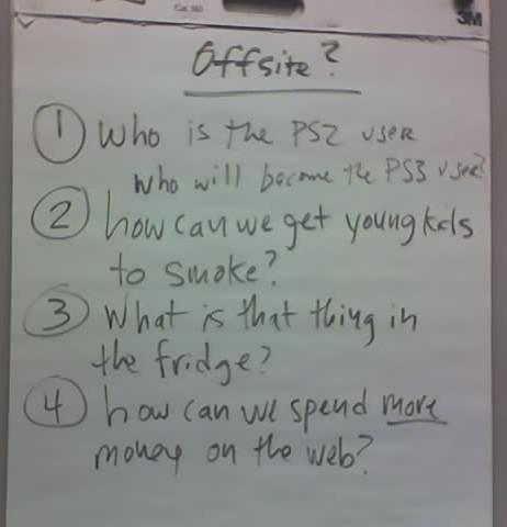 offsite agenda