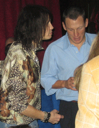 Steven Tyler and Lance Armstrong
