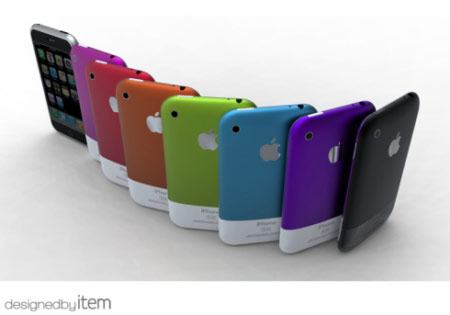 iPhone concept in colors