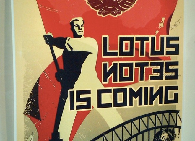 lotus notes is coming poster