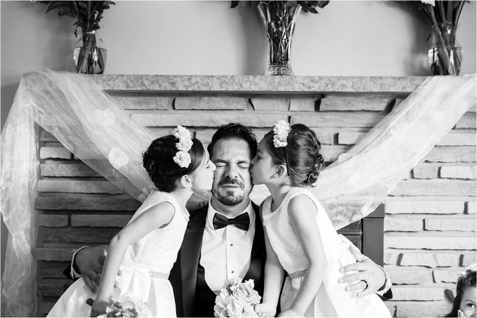 Groom kissed by flower girls - Woodstock London Ontario Lebanese middle eastern arab Wedding and engagement photos - Dylan Martin Photography