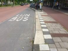 Raised bus curb