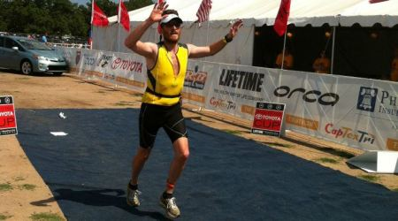 Dylan finishes the Capital of Texas Triathlon 2012