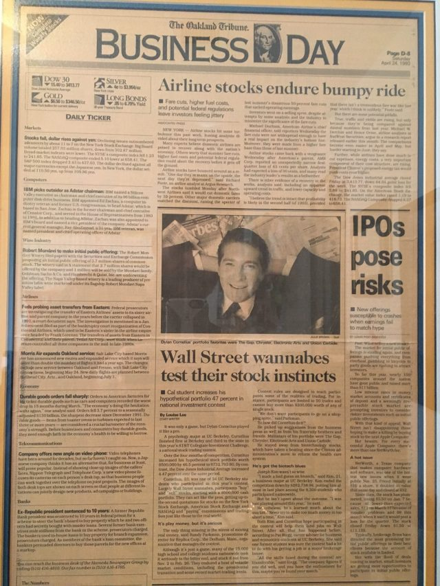 The Oakland Tribune Business Day, March, 24, 1993
