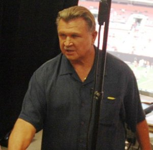 Mike Ditka By Mass Communication Specialist 1st Class Jason J. Perry - http://www.navy.mil/view_image.asp?id=38816, Public Domain, https://commons.wikimedia.org/w/index.php?curid=1458712 060831-N-1805P-007 CLEVELAND (Aug. 31, 2006) - Sailors from amphibious transport dock ship USS Cleveland (LPD 7) were welcomed by legendary football coach Mike Ditka in the press booth during a National Football League pre-season game between the Browns and Chicago Bears. The Sailors are in their ship's namesake town for Cleveland Navy Week, which runs Aug. 28-Sep. 4, arranged by the Navy Office of Community Outreach (NAVCO). Navy Weeks are coordinated by NAVCO along with local Navy Recruiting District offices, Navy Operational Support Centers and other local Navy commands and civilian partner organizations with an interest in advancing awareness in major metropolitan areas with traditionally limited exposure to the Navy. U.S. Navy photo by Mass Communication Specialist 1st Class Jason J. Perry (RELEASED)
