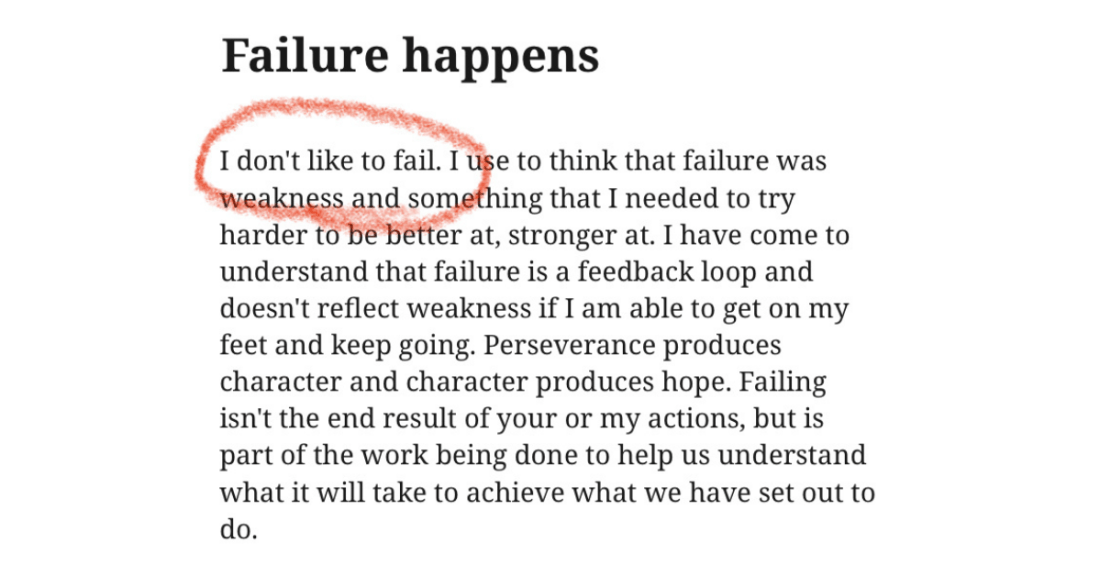 Failure happens