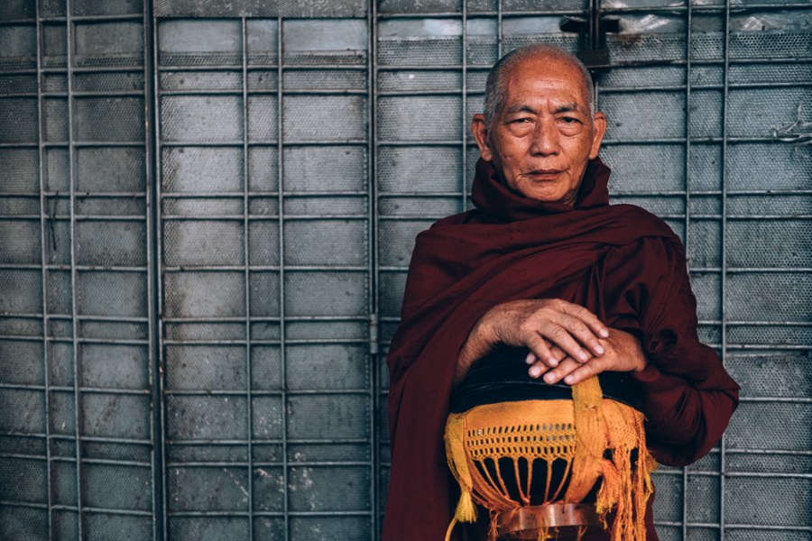 Monk, Yangon Downtown, Myanmar - Photographer