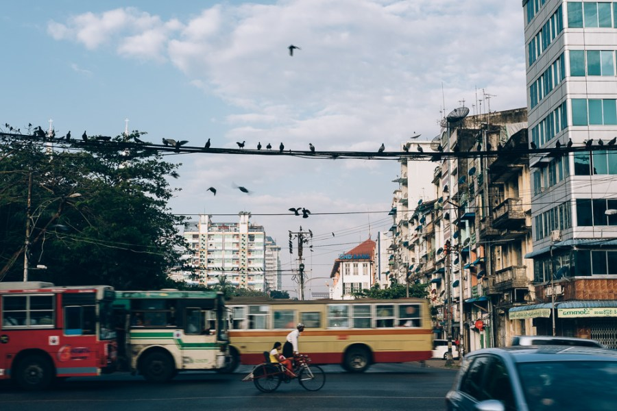 Intersection, Yangon Downtown, Myanmar - Photographer