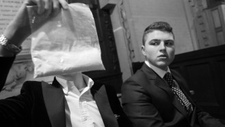The plot of this film is the short deal between two mafia bosses exchanging currency for cocaine. This was chosen as a key still from our film, as the cocaine was an important prop for the plot and the whole exchange.