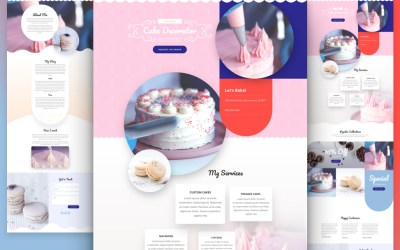 All New Cake Maker Website Layout