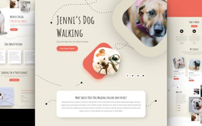 FEATURED: Dog Walker Website Layout Design