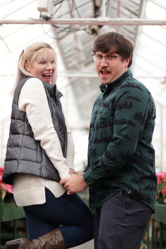 Christmas Card Couples Photo Shoot at Longwood Gardens 9