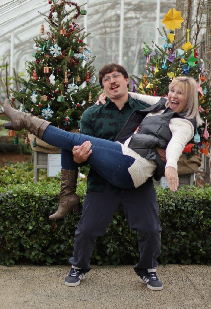 Christmas Card Couples Photo Shoot at Longwood Gardens 5