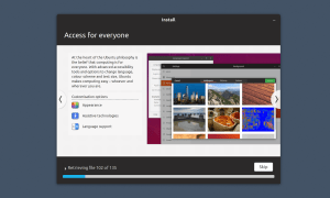 Screenshot of Ubuntu's installer slideshow