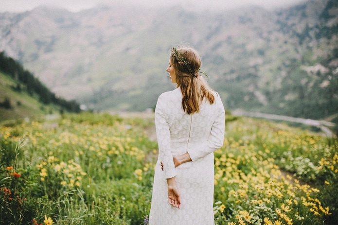 salt lake wildflower bride photo