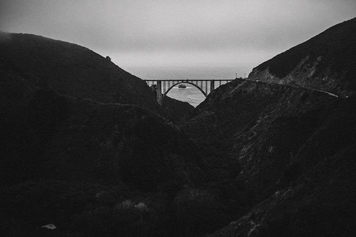 bixby canyon bridge photo