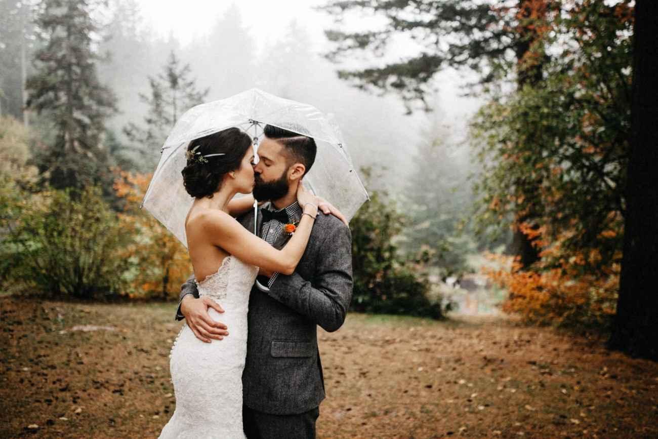 hoyt arboretum wedding photo
