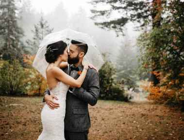 hoyt arboretum wedding photo