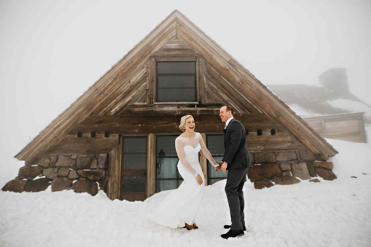 silcox hut timberline lodge mt hood wedding photo