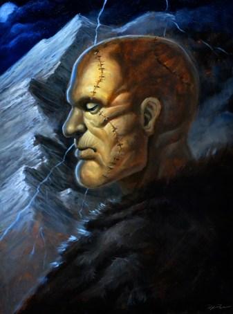 """Frankenstein - Oil on canvas 18"""" x 24"""""""