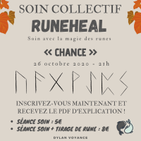 "RUNEHEAL : Soin collectif ""Chance"" 26/10 à 21h!"