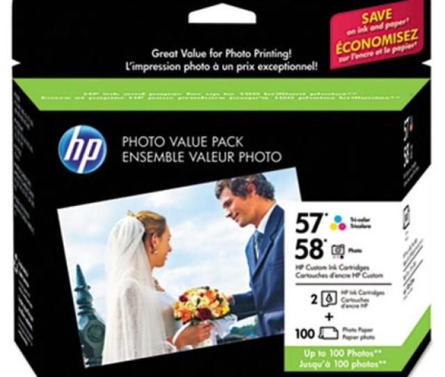 Hp 57 58 Series Ink Cartridge Paper Photo Value Pack W  X 6