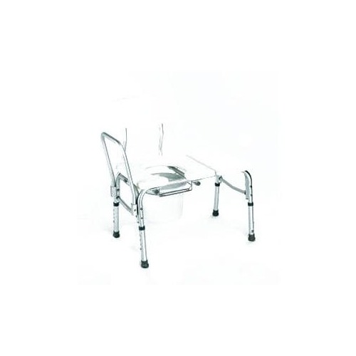 carex health brands bathtub transfer bench w cut out commode