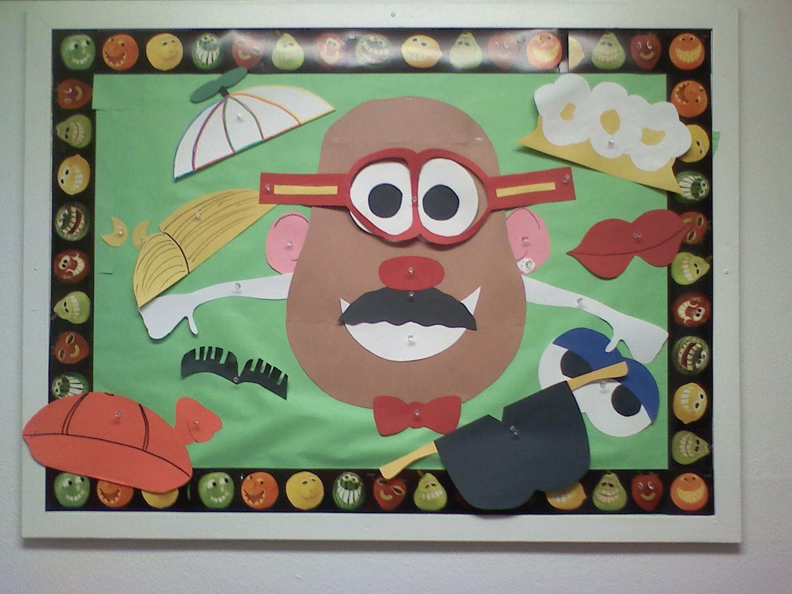 Mr Potato Head Bulletin Board