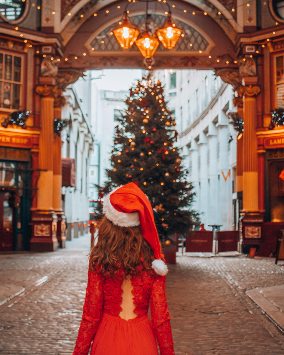 Christmas in Leadenhall Market in London